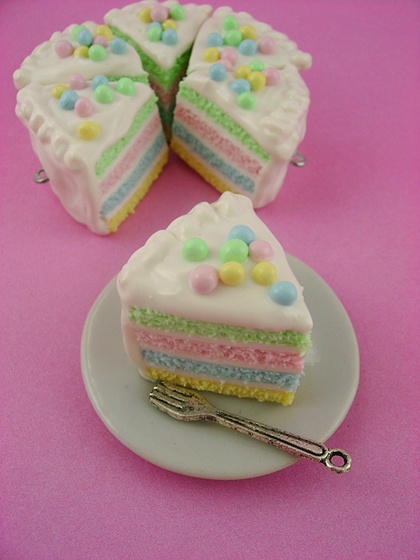 it's not a real cake – but what a cute idea for an effective cake ...