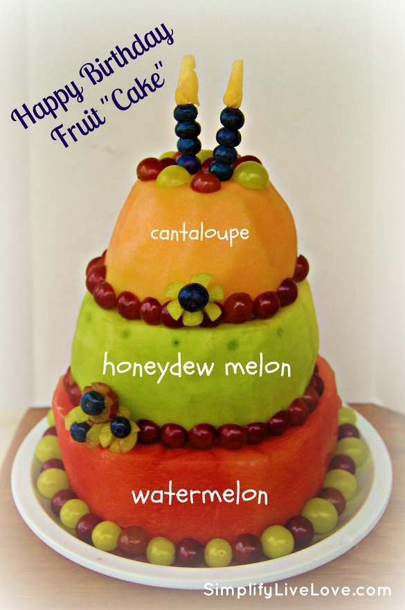 Carved Watermelon Cake