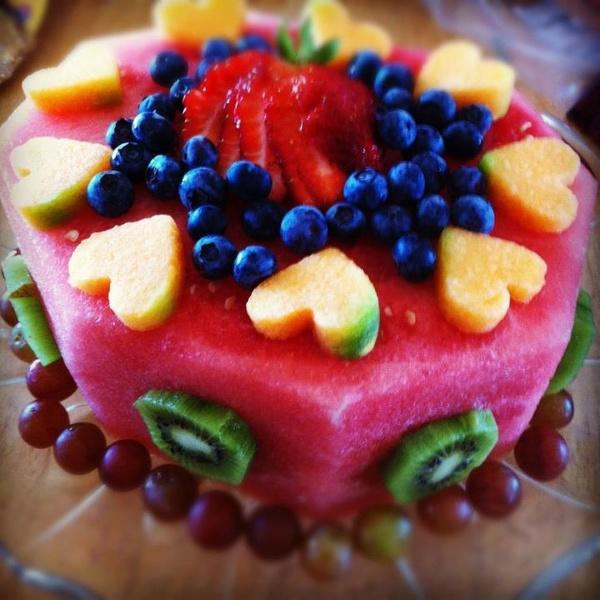 Carved Fruit Cake