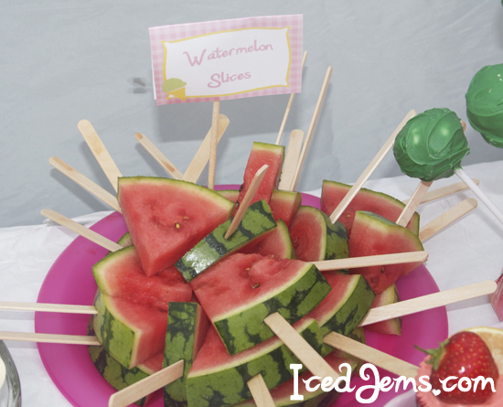 Watermelon Lollipops