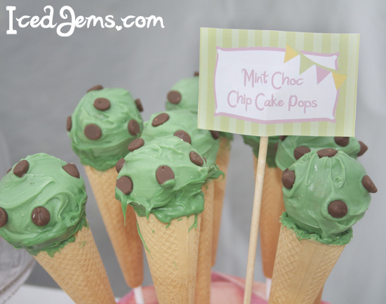 Mint Choc Chip Cake Pops