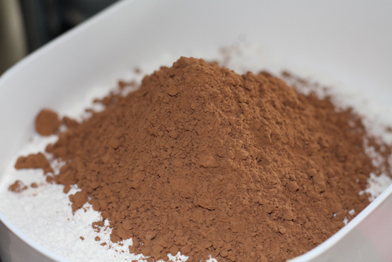 Flour and Cocoa Powder