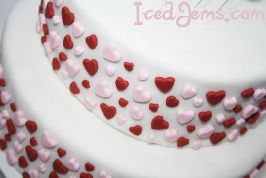 Mini Fondant Hearts
