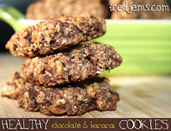 Healthy Chocolate and Banana Cookies