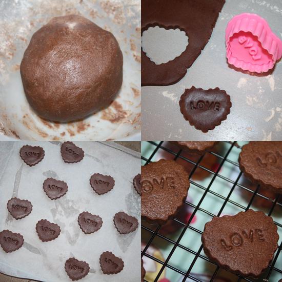 AverageTeenGirl: Chocolate Heart Sandwich Cookies