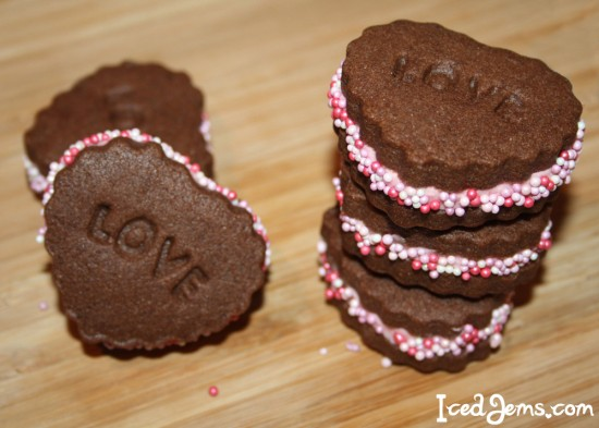 Chocolate Heart Sandwich Cookies