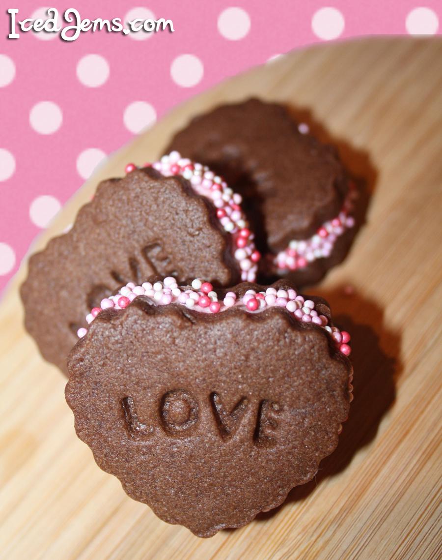 Chocolate Heart Sandwich Cookies Recipes — Dishmaps