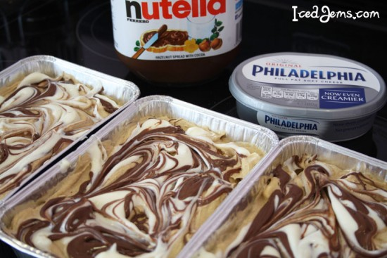 Nutella & Cream Cheese Swirled Blondies Recipe — Dishmaps