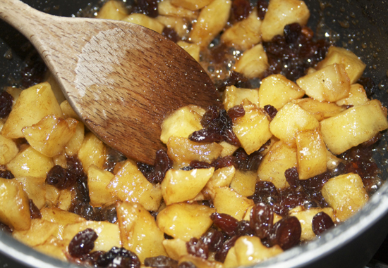 Cooked Apple and Raisins