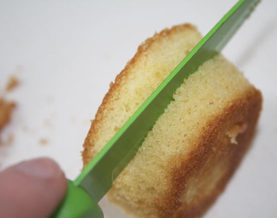 Cupcake cut in half