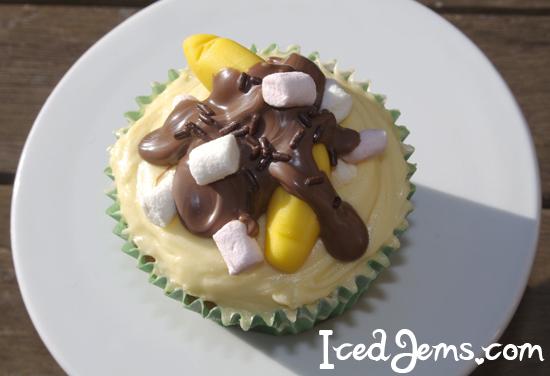Banana Sundae Cupcake