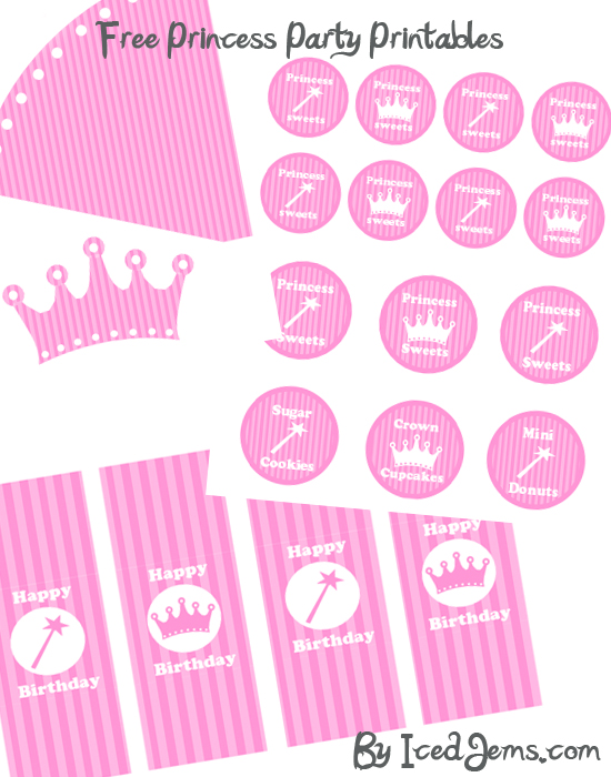 Remarkable image pertaining to princess party printable