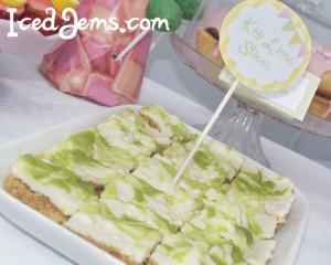 Lime Swirl Cheesecake Bars