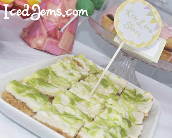 Lime Swirl Cheesecake Bars