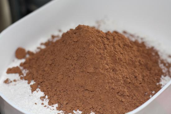 Flour and Cocoa Powder