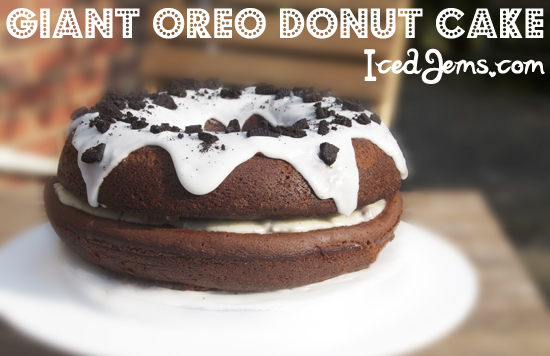 Giant Oreo Donut Cake