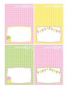 Pink Yellow Green Party Printables