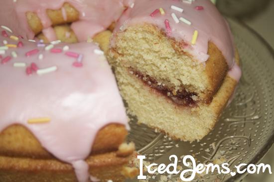 Sliced Giant Donut Cake