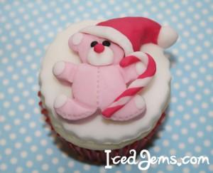 Christmas Teddy Bear Cupcake
