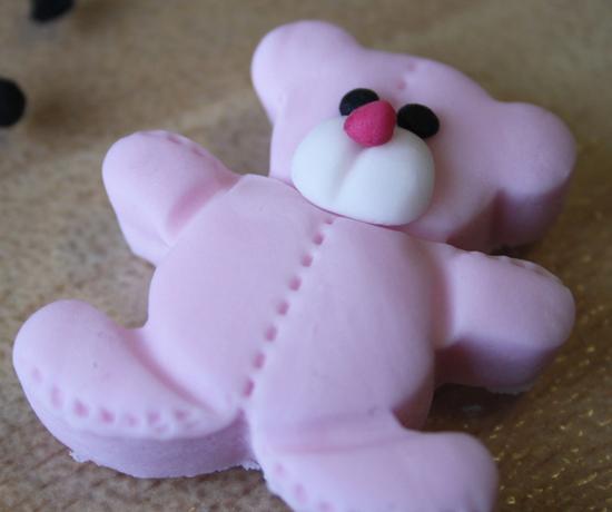Pink Teddy Bear Sugarpaste