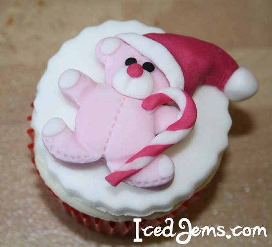 Pink Teddy Bear Cupcake