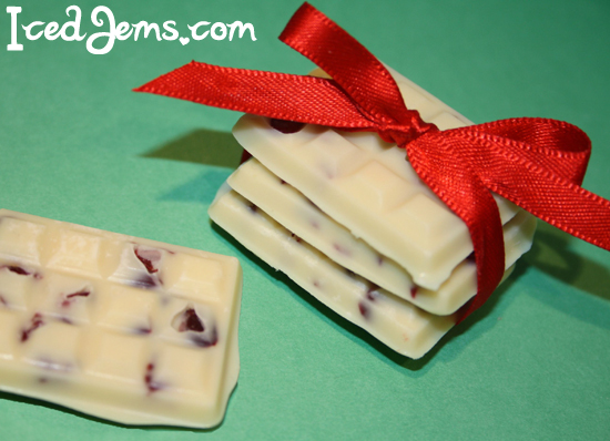 Mini White Chocolate and Cranberry Bars