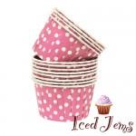 Pink Polka Dot Baking Cups