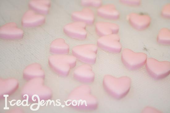 Pink Fondant Hearts