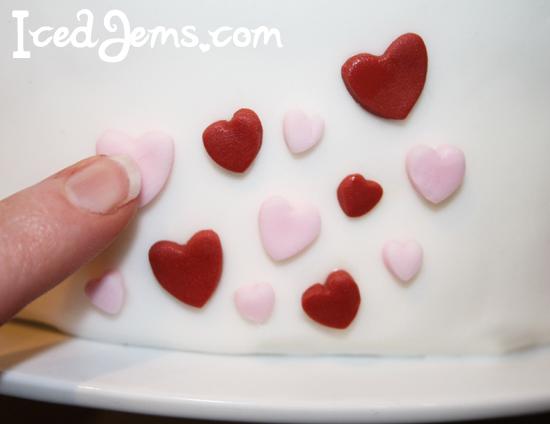 Mini Fondant Heart Cake