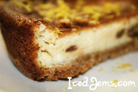 Lemon Raisin Cheesecake