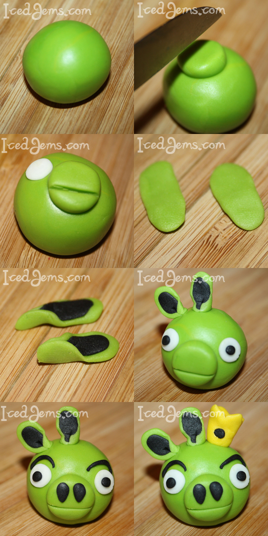 Angry Birds Green Pig Cake