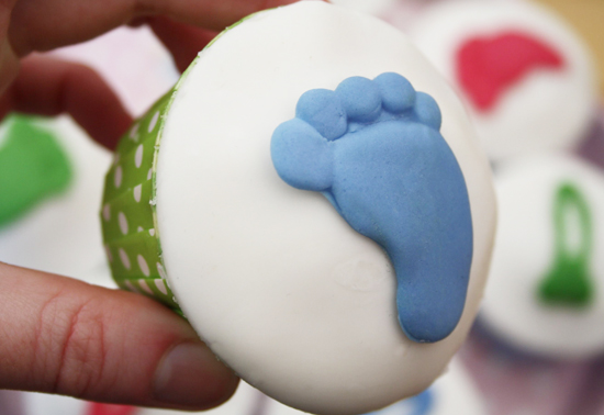 Baby Feet Cupcake