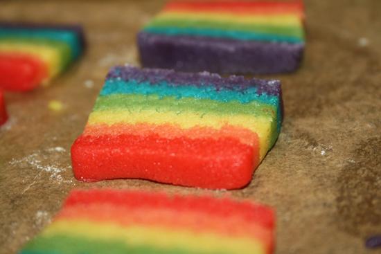 Rainbow Cookie Squares