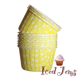 Yellow Polka Dot Baking Cups