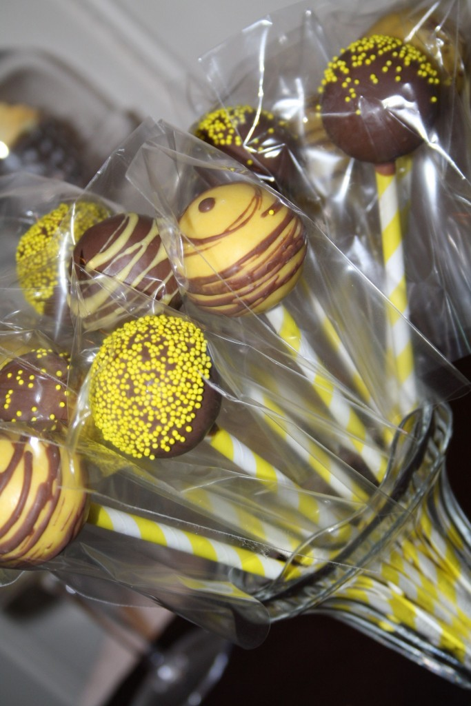 Yellow and Brown Cake Pops