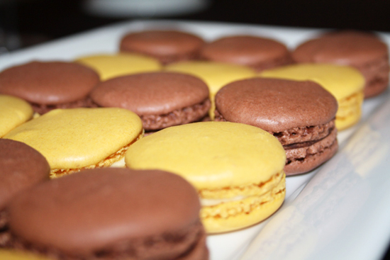 Chocolate and Lemon Macarons