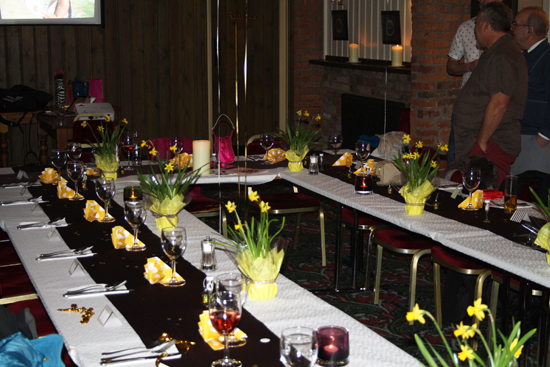Yellow Flower Table Setting