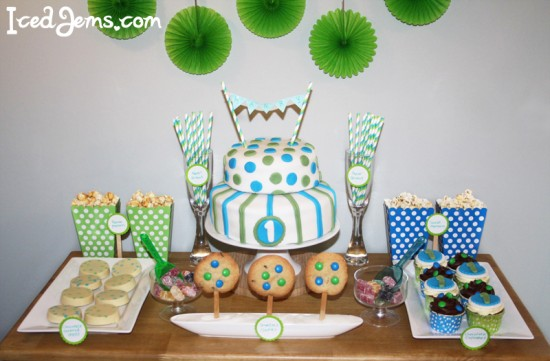 Blue And Green 1st Birthday Theme