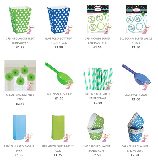 Green Blue Partyware