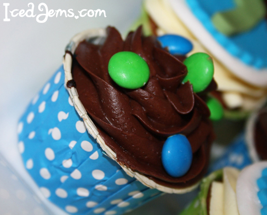 Blue Polka Dot Baking Cups