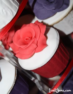 Red Velvet Rose Cupcakes
