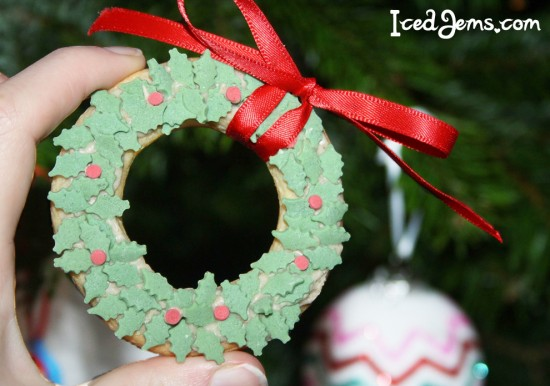 Holly Wreath Cookies Iced Jems