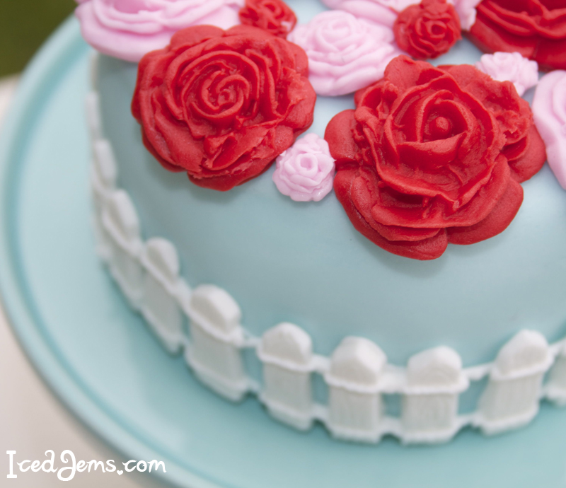 Rose Picket Fence Cake