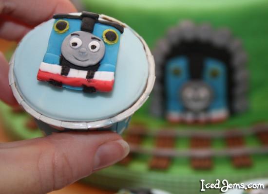 Thomas Tank Cupcake