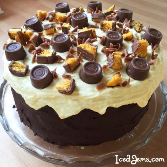 Chocolate crunchie cake