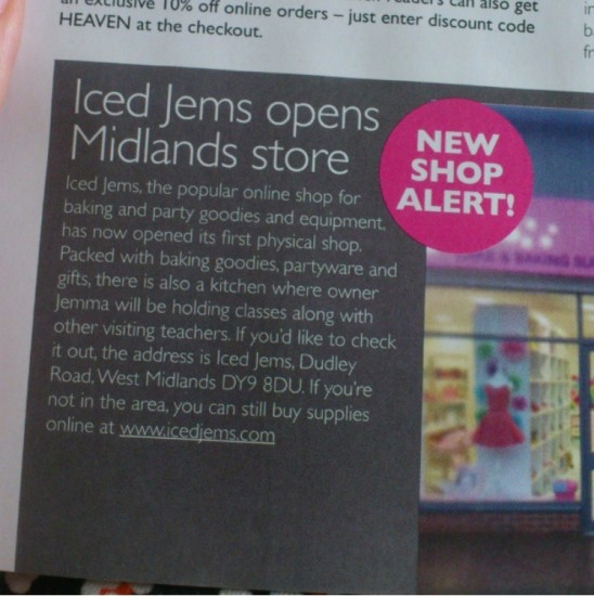 Thankyou to the team at Cupcake Heaven Magazine who gave my little store opening a mention!