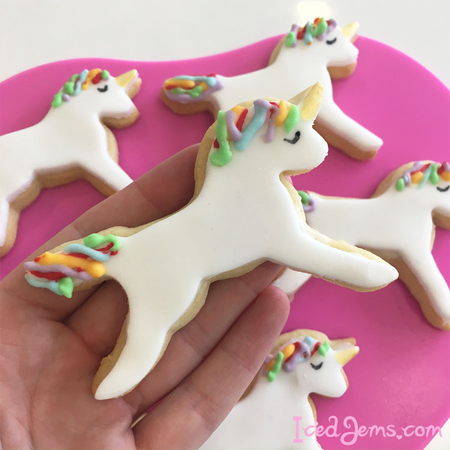 Unicorn Cookies Iced Jems